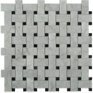 Trenza White Carrara & Black Dot
