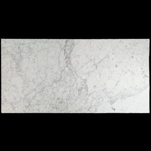 Castlerock White Carrara 18x36 Roman Finish