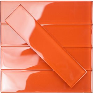 Crystal Burnt Orange 2x8 Polished