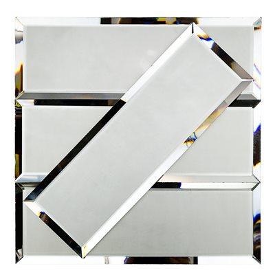 Mirror Dark Gray 4x12 Beveled