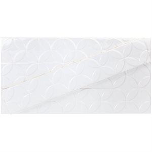 Hampton Deco White 4x24