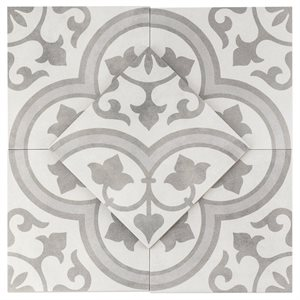 Havana Silver Ornate 9x9