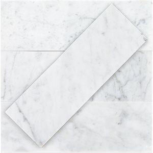White Carrara 4x12 Polished