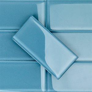 Crystal Blue-Gray 3x6 Polished