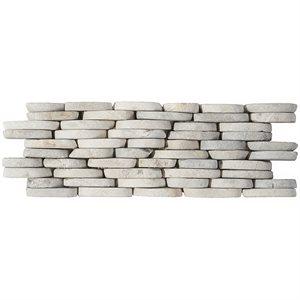 Pebblestone Prambanan Grey Stacked Sliced Natural Stone (.30 sq.ft.)