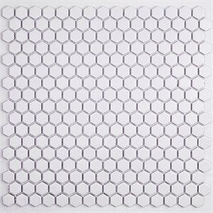 Simple Hexagon Solid Matte White